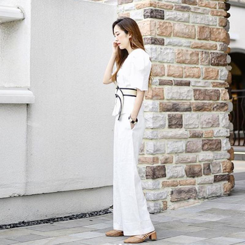 [韩国评价] 跟有点鞋跟的高跟鞋一起穿的话, 整体线条看起来更帅气