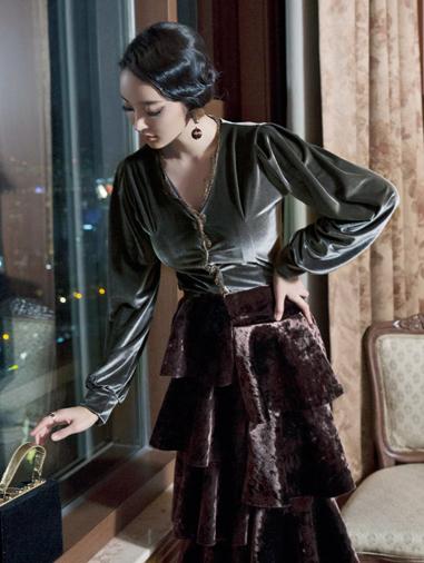 B2142 天鹅绒雪纺纱 *也能用以小外套着用* (30th REORDER)