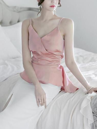 E1757闪耀褶皱纱布/底衫成熟的胸部