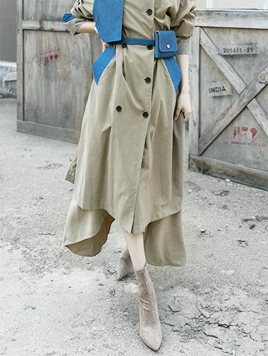 SK1776 不规则裙襬长裙