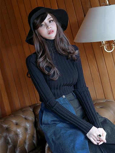 E-4409 高领针织衫