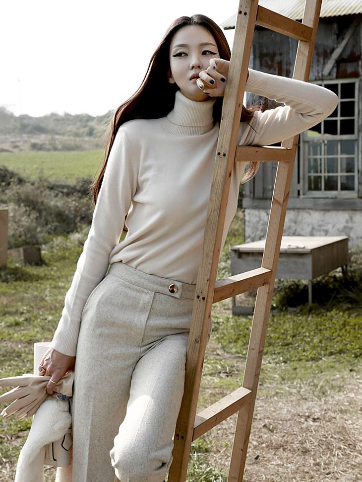 E-4057羊绒基本款高腰针织上衣(第160次现货)