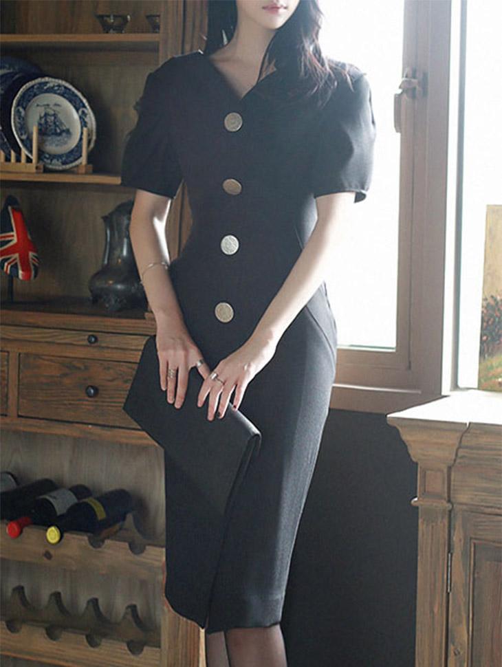D3388 Dione针褶袖套衣衣(25号重新库存)