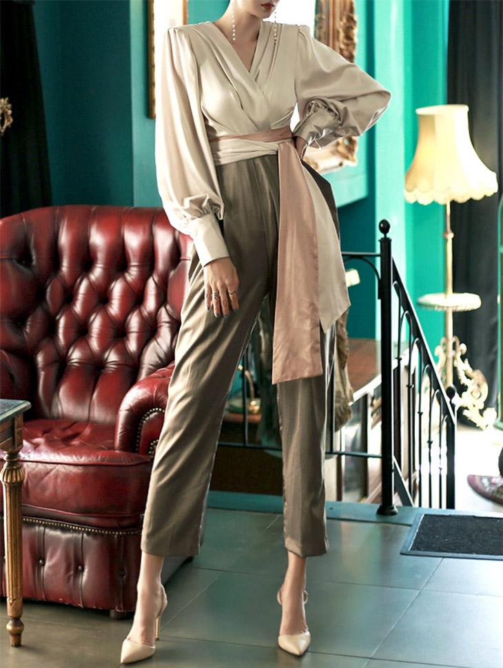 D3394泽尔布褶襞服饰