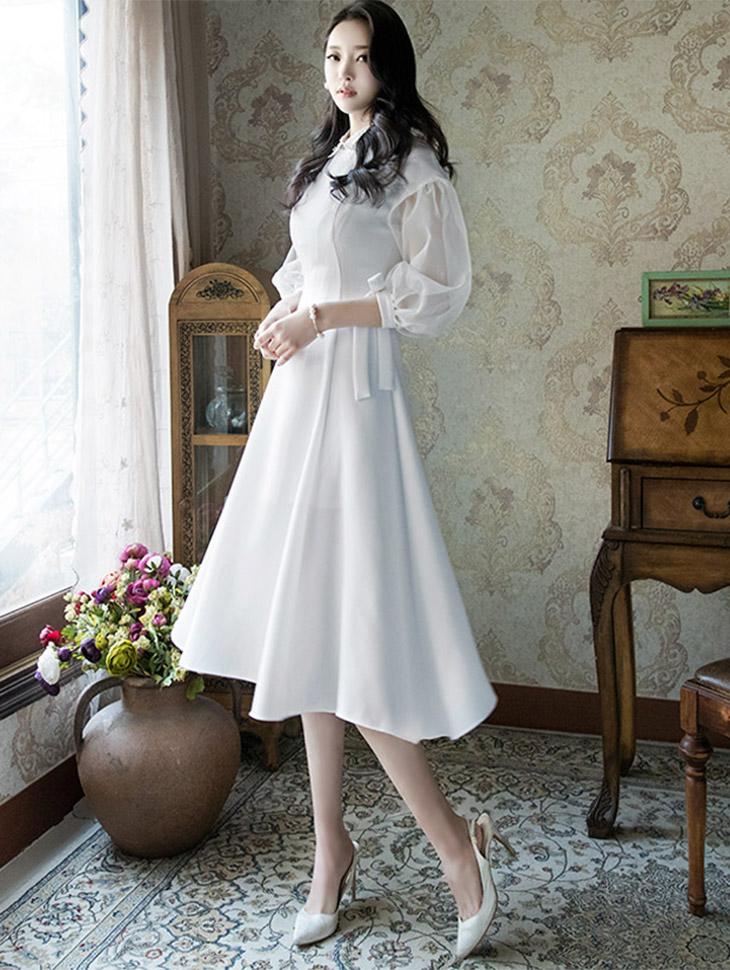 D3496透明房A线条连身裙(9进进货)