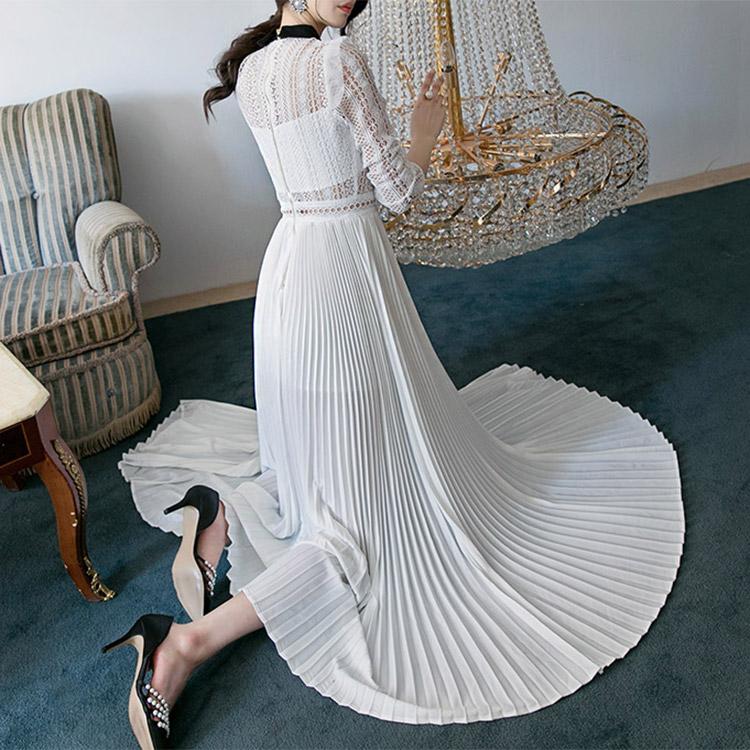 D3512领线条丝丝百折长裙裙裙*大小生产*(3进进货)