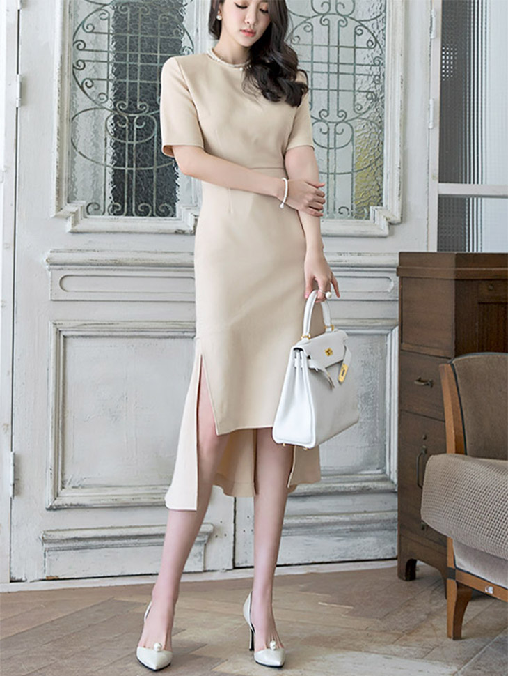 D3520 显瘦不对衬连身裙 (第18次进货)
