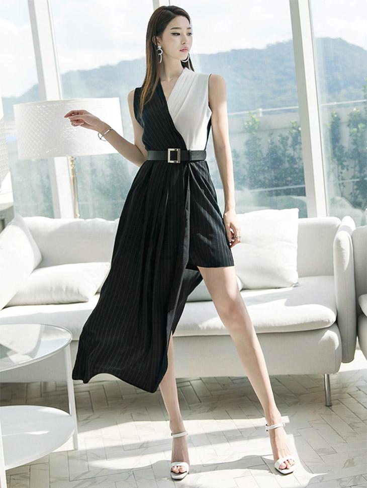 D3622白色法발线衣衣裙(腰带套)(第10次重新储存)