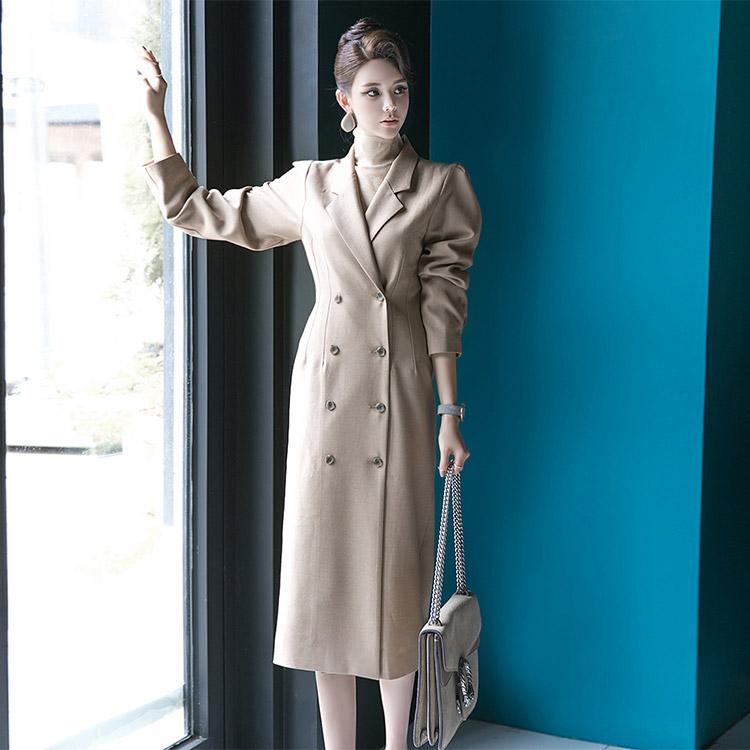 D3661卷泡套筒线条双连裙裙* L尺寸生产*(21进货)