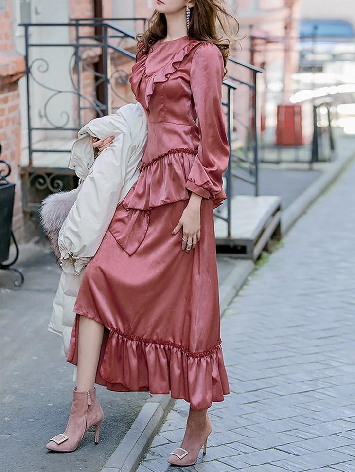 D3680 Sootyun Univ。历史边边连衣裙