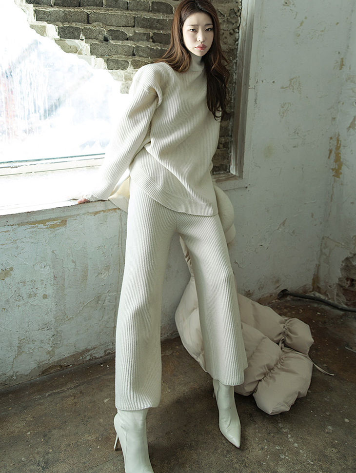 P1959 羊羔毛针织裤