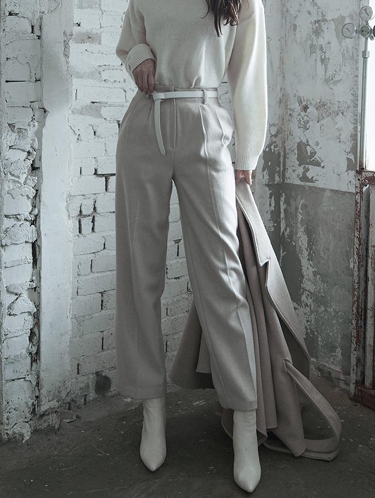 P1960 直筒羊毛裤