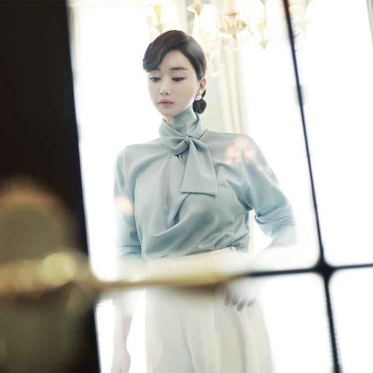 B1935下围巾颈部女性衬衫(79th re-stock)