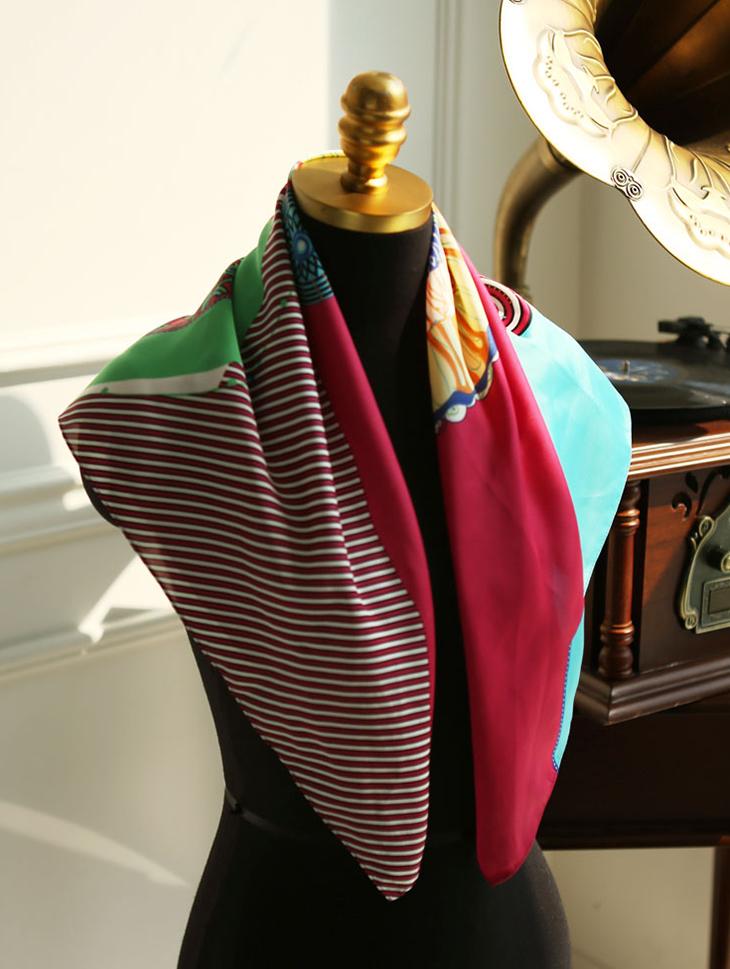 AS-1166维珍圈图案围巾