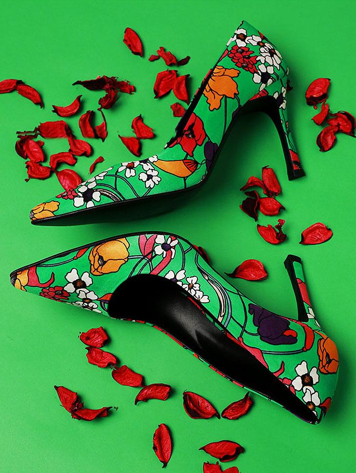 DTHAR-001季节花高跟鞋*手工制作*
