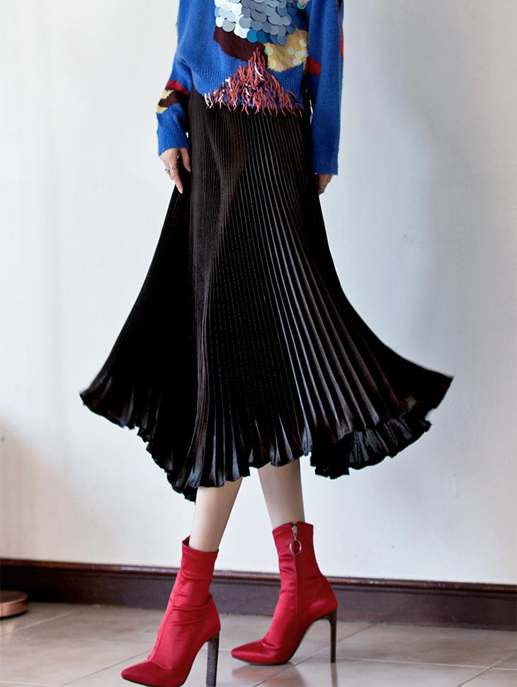 SK1611波纹管折叠折叠裙子(42号重新放养)
