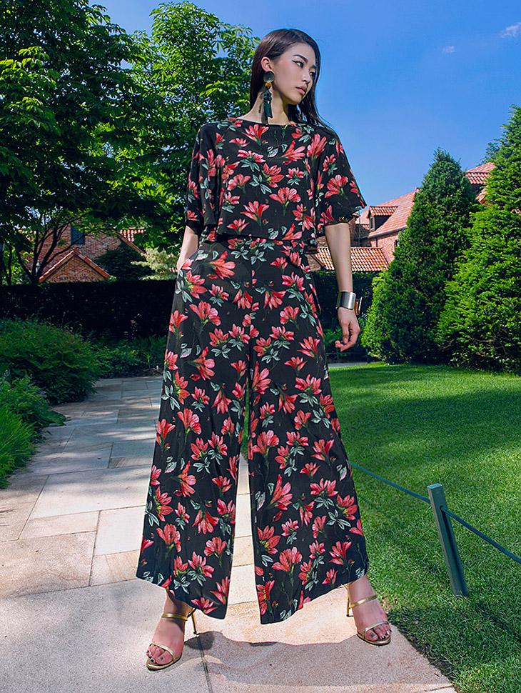 P1874 Nature Blossom Short(腰带套)*象牙色混合色*