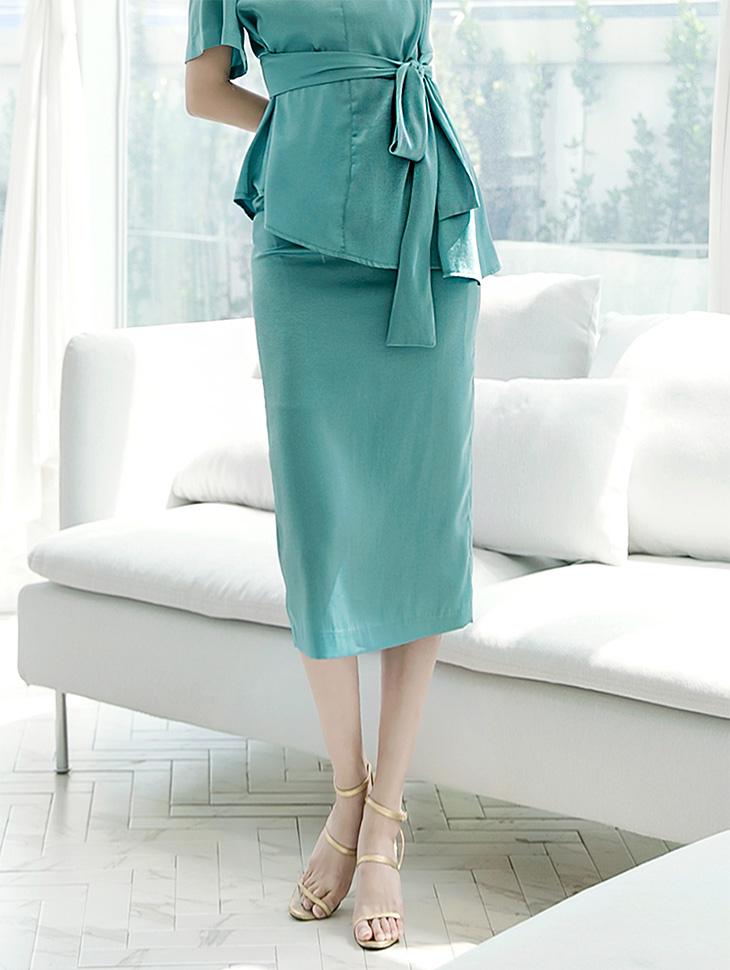 SK1744 光泽纬缎半身裙 (第8次进货)