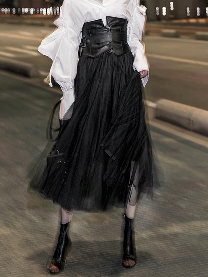 SK1762卷一百折Shiriya jo裙裙子(第60次重新存放)