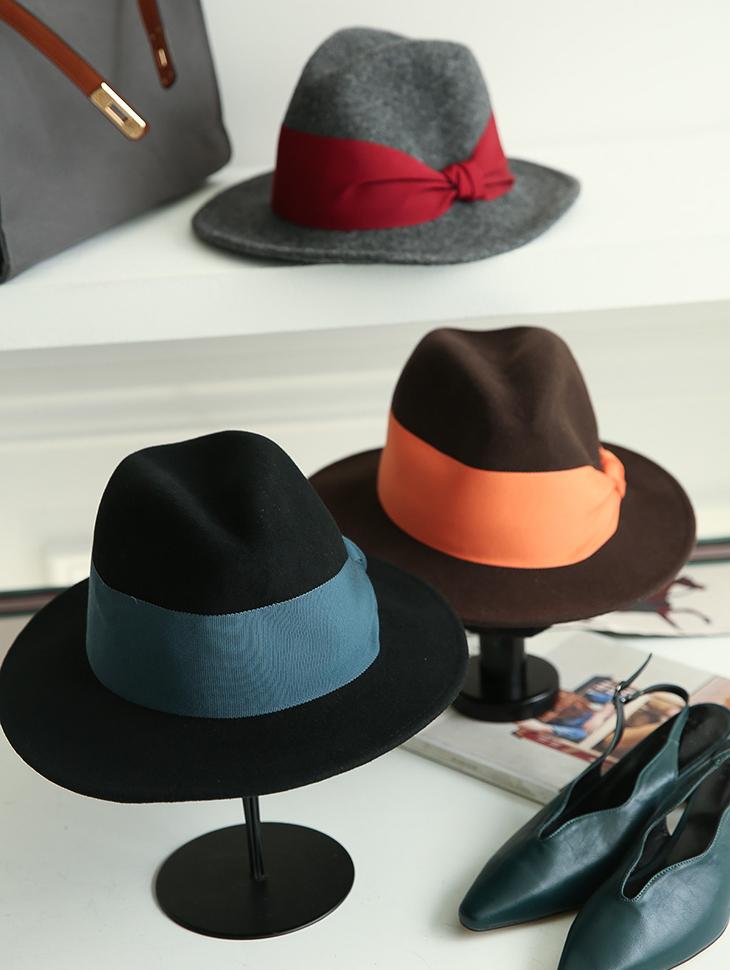 AC-485彩色丝带毡帽