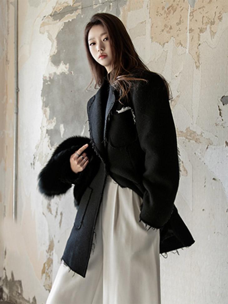J480花丝Taylor短款上衣羊毛呢子大衣