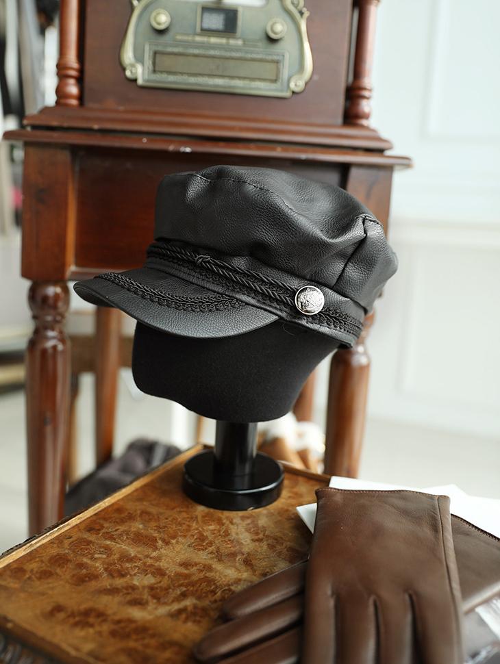 AC-497配皮革Madorus帽子