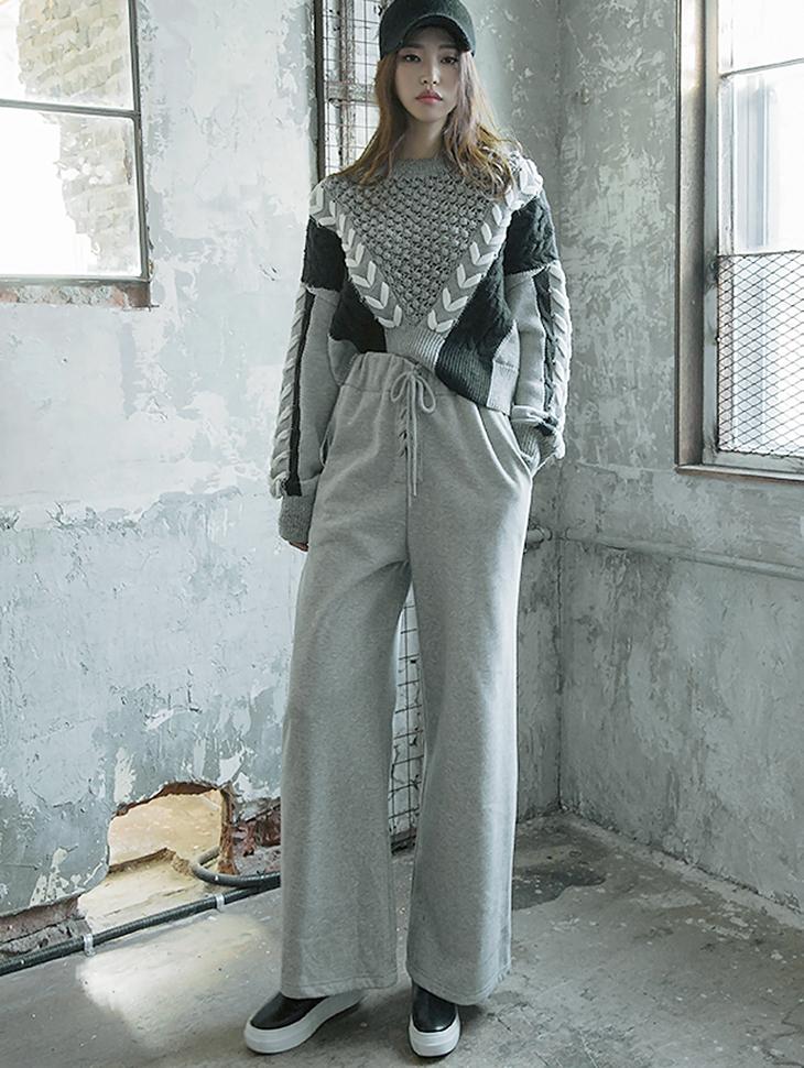 P1965 束带宽鬆棉裤