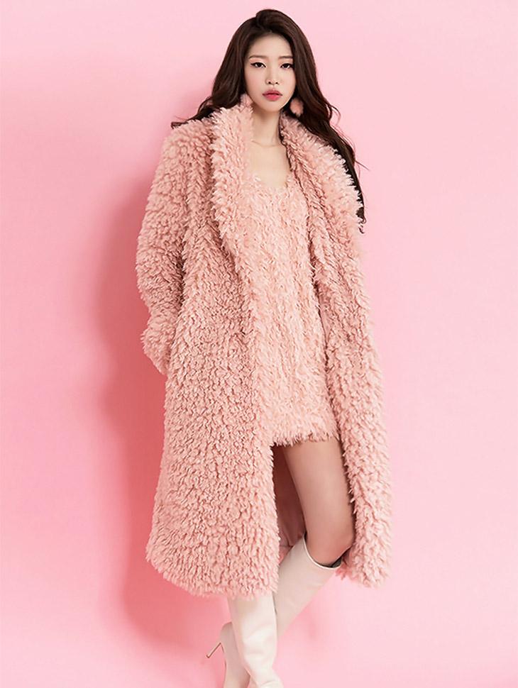 J500 舒适长版毛大衣