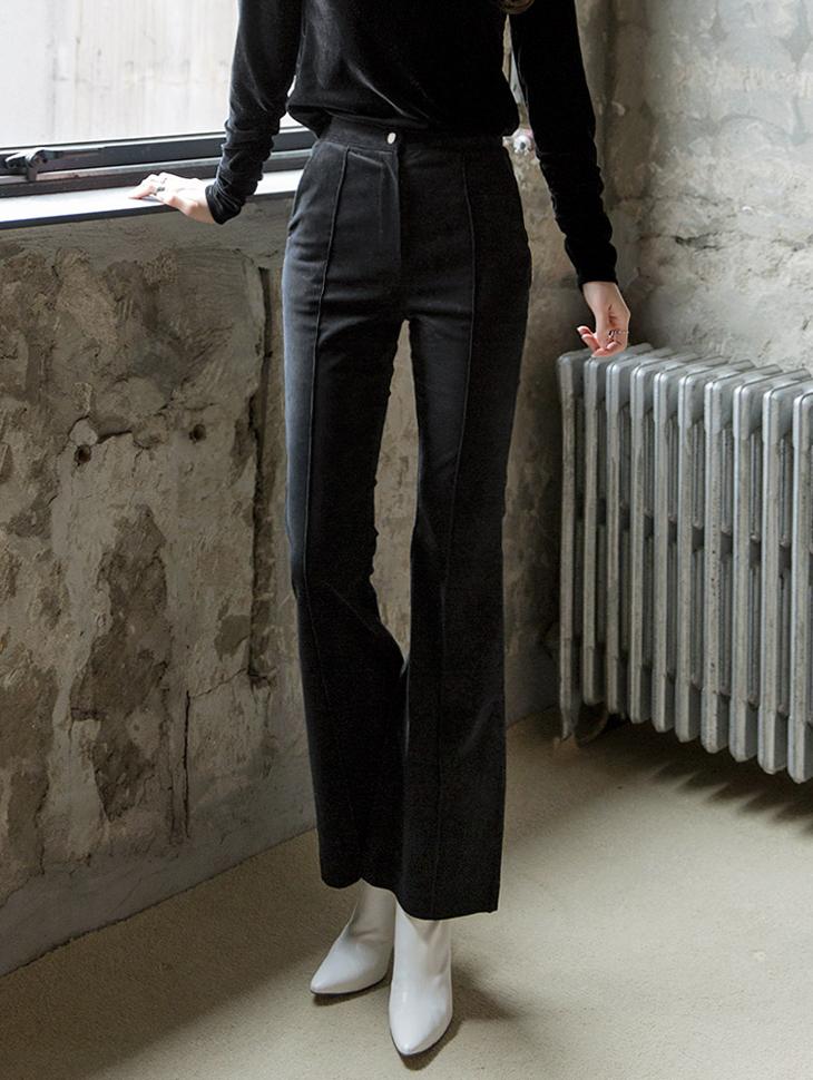 P1971 灯芯绒显瘦喇叭裤
