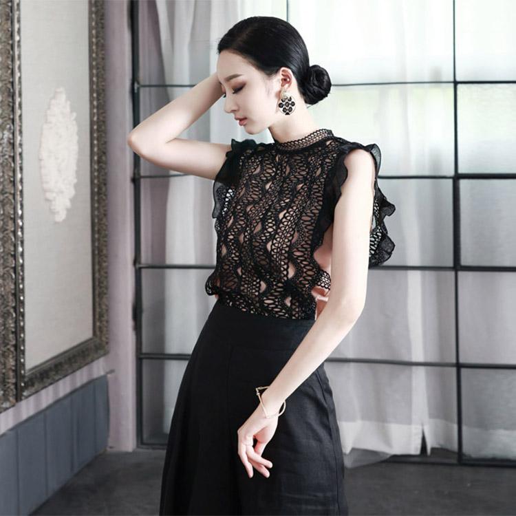 B2021蕾丝上女衬衫(内套)(84进货)