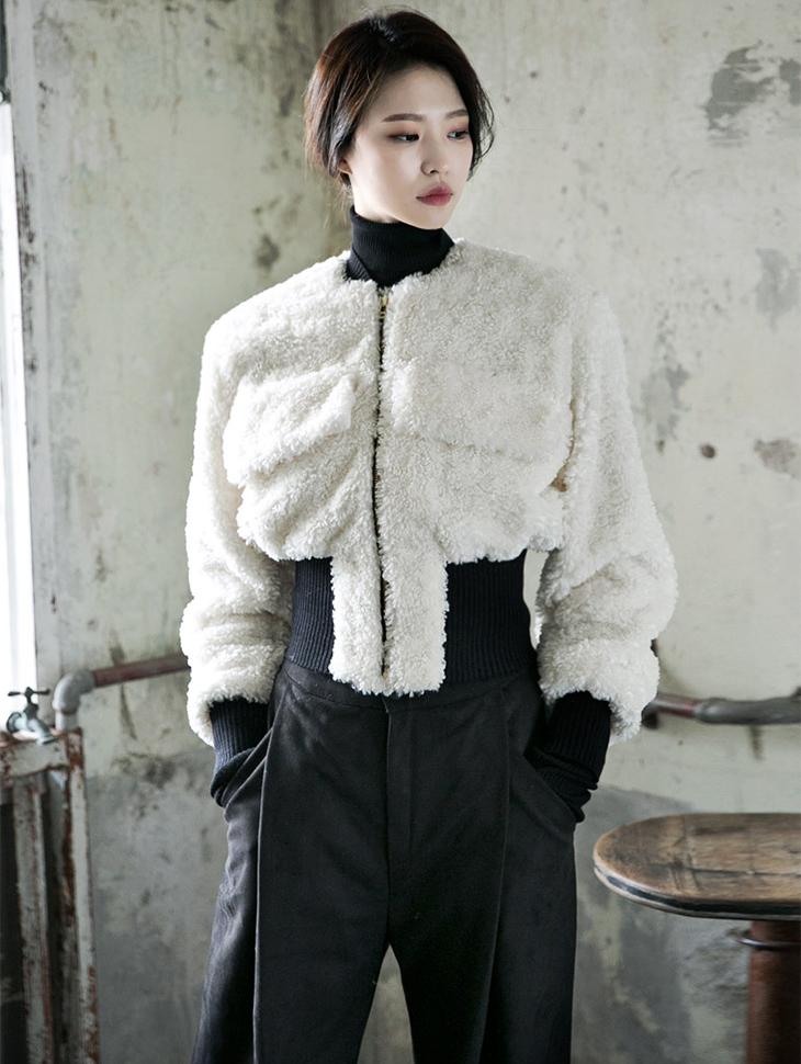 J-4719立珠毛皮草外套