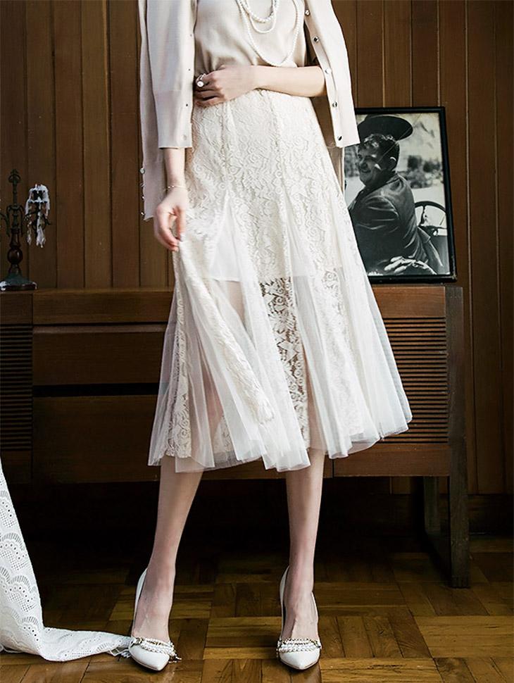 SK1688优雅レシシ裙子(69再进货)(生产期2地址,顺序发货时间表)