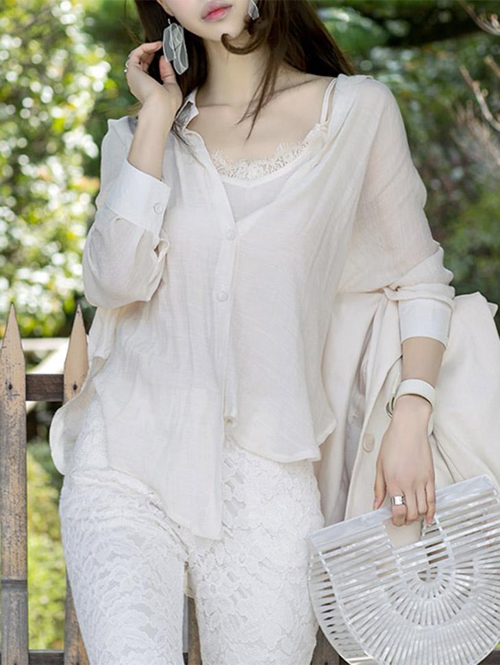 透明女子衬衫(内套)由B2205(第38次重新储存)