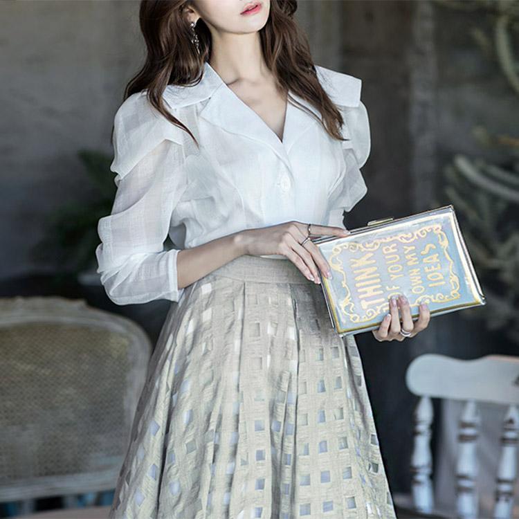 B2255透视皱ople女衬衫(38再进货)