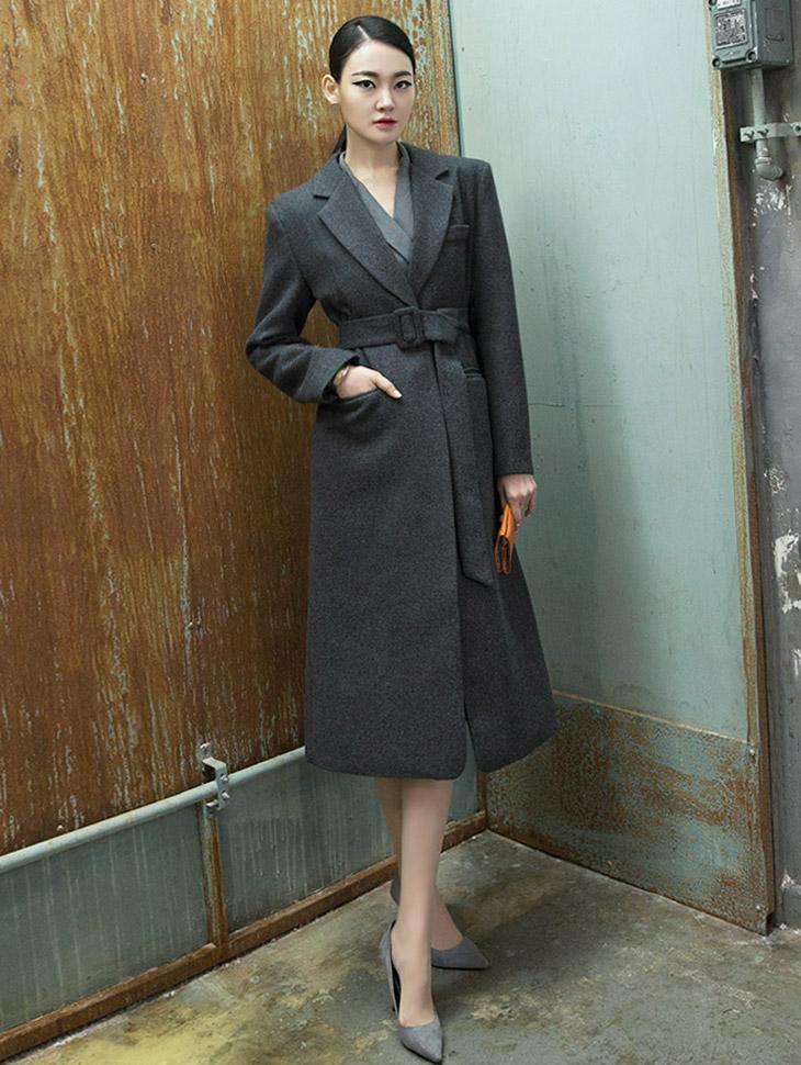 J521干练长版大衣 (腰带组合)