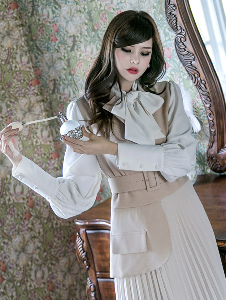 B2332 圆领浪漫雪纺纱 (领巾组合)