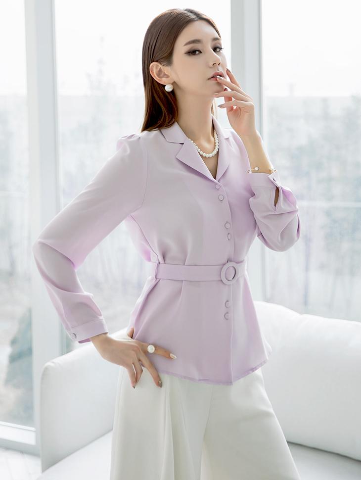 B2364 Sten tokara woman衬衫(腰带套)