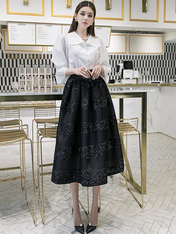 SK1834骷髅羽毛笔闪亮裙子* L尺寸制作*(30进货)
