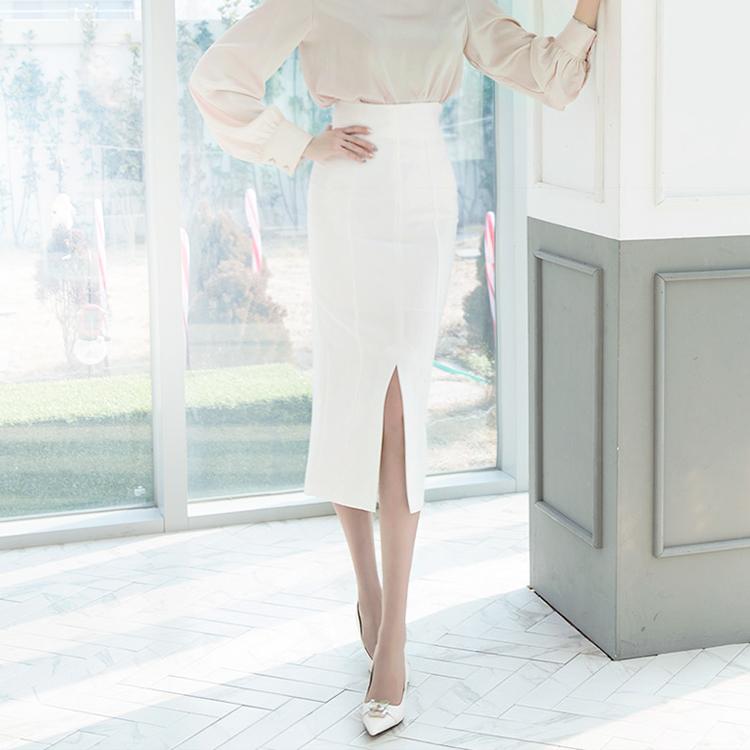 SK1833 Taille开岔长版裙子* L尺寸生产*(27进货)