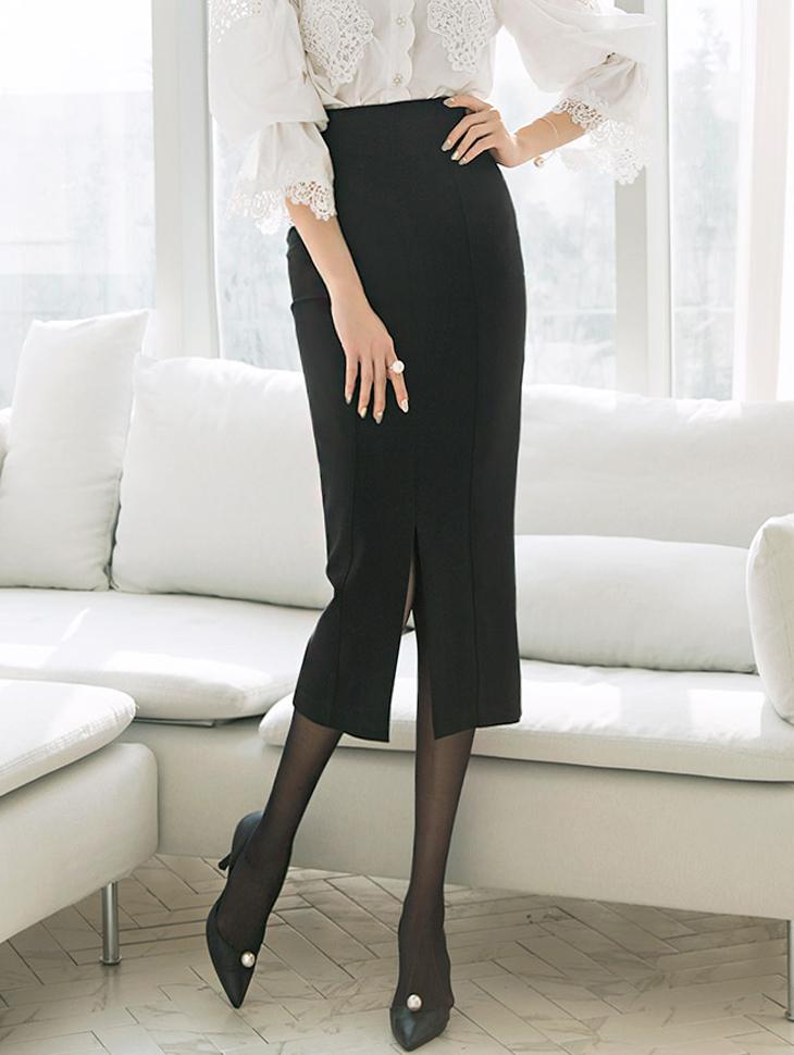 SK1833 Taille开岔长版裙子* L尺寸制作*(30进货)