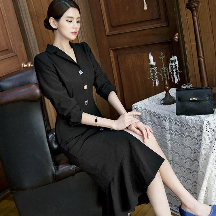 D3535 珠宝钮扣日常连身裙 (18th REORDER)
