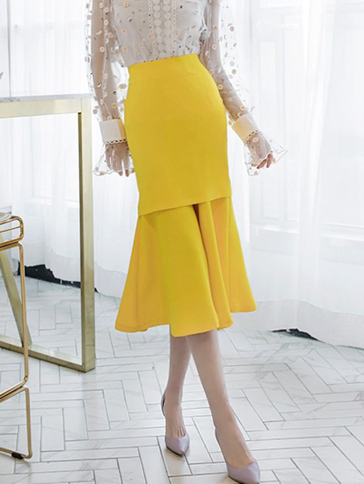 SK1633 Jaini长长版裙子* L尺寸制作*(57进货)