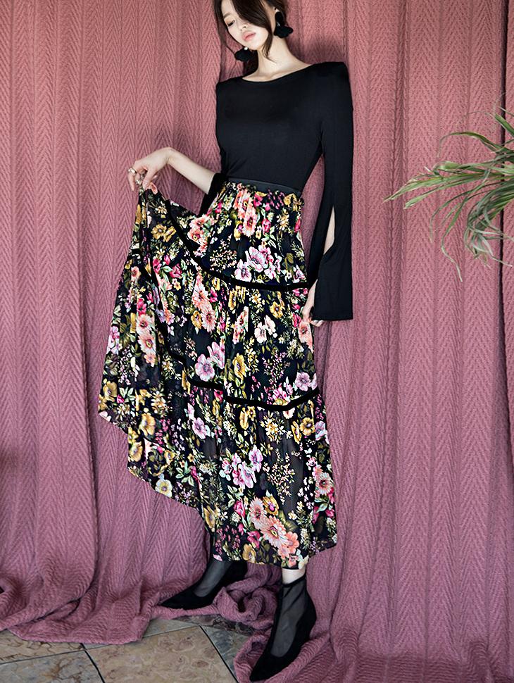 SK1643花蕾丝卷裙子(21再进货)
