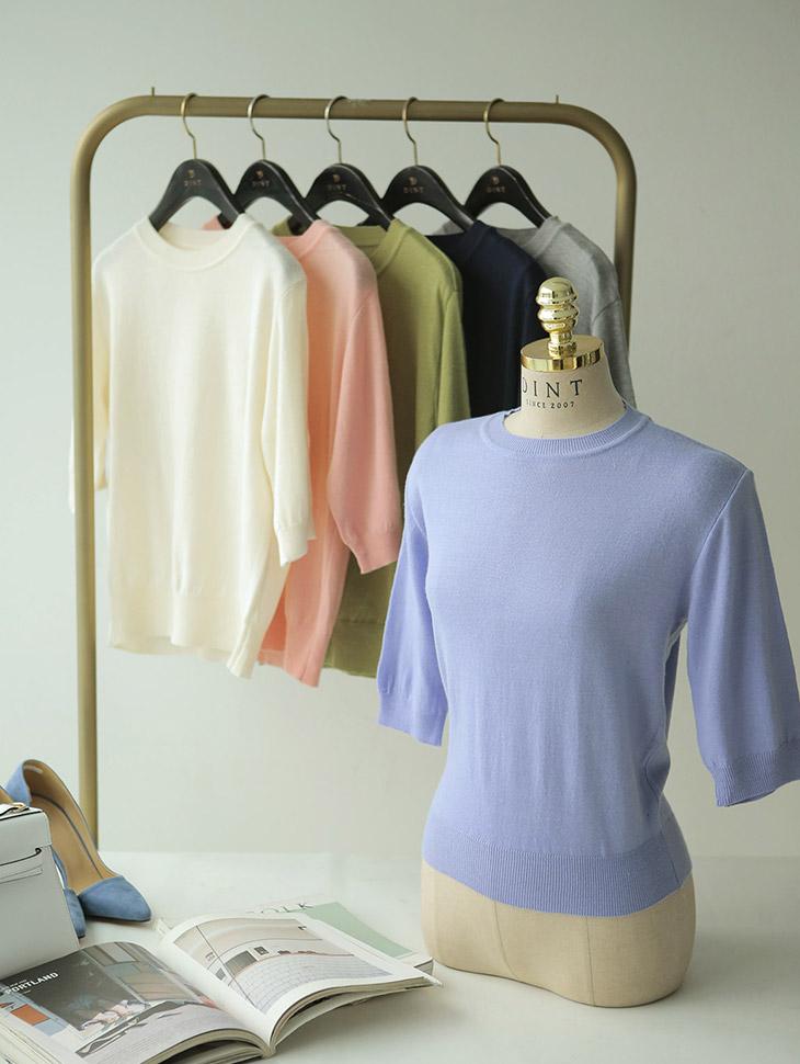 E1911羊绒针织领胸胸