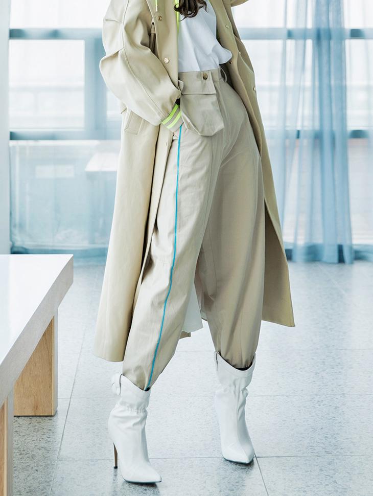 P2003 色彩边线口袋裤(口袋为可拆卸式)