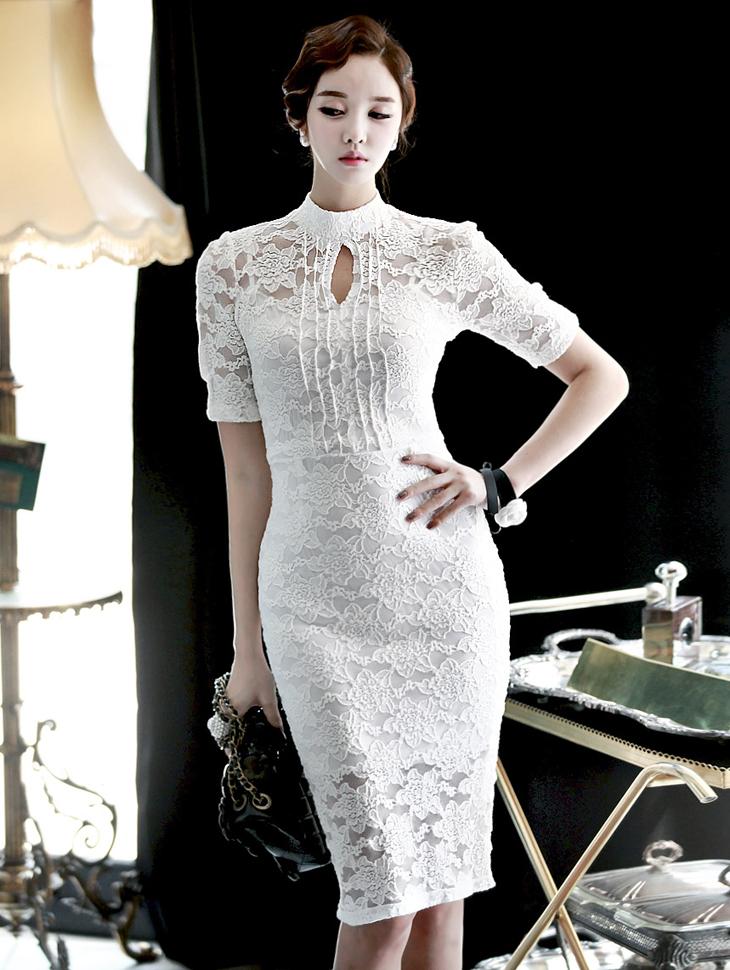 D2688 浪漫 网眼织物 连衣裙 * M尺寸制作*(第171次进货)