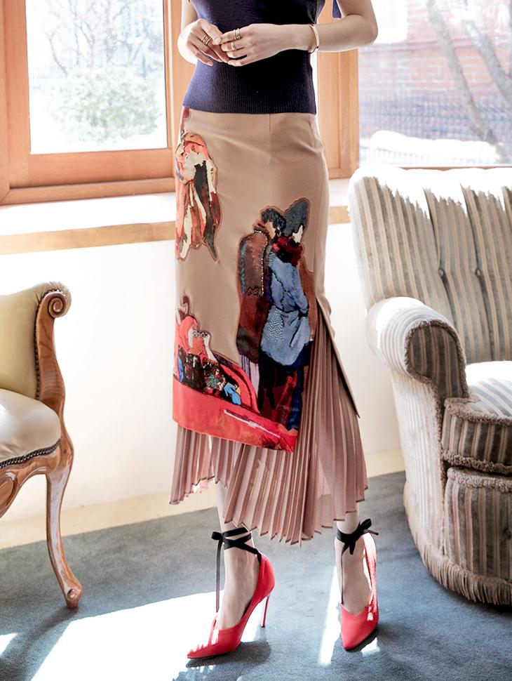 SK1661 百褶半身裙 (第17次进货)