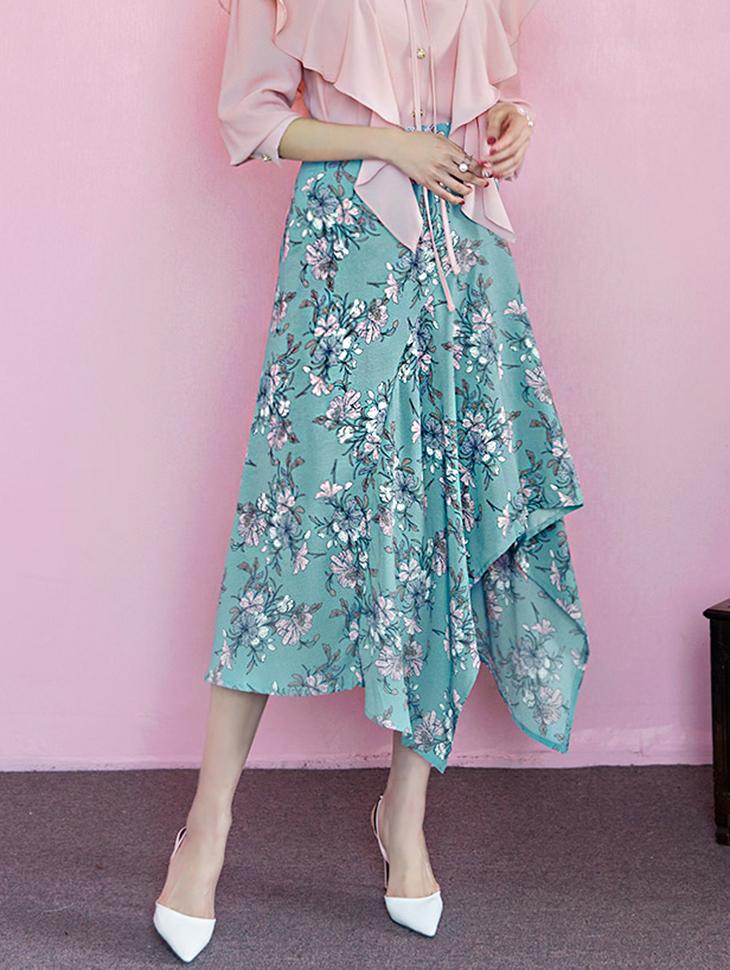 SK1702 不规则花朵半身裙 (第43次进货)