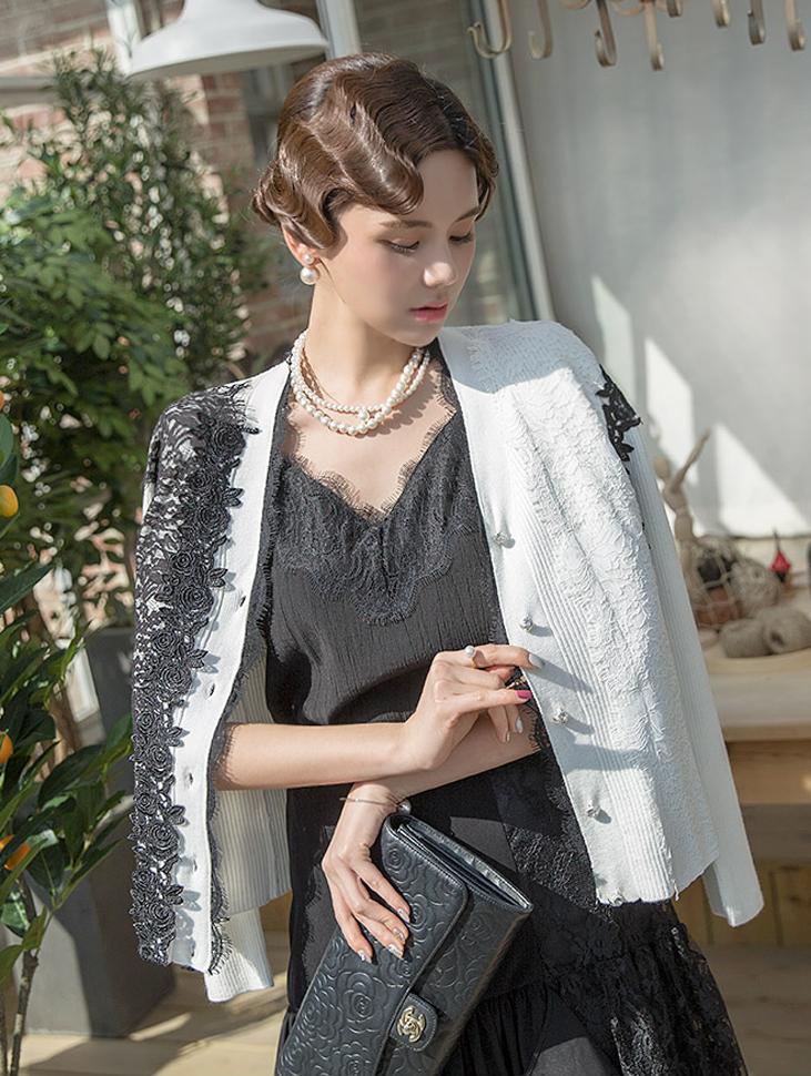 J568 Marilyn semi  - 蕾丝针织套(3进货)