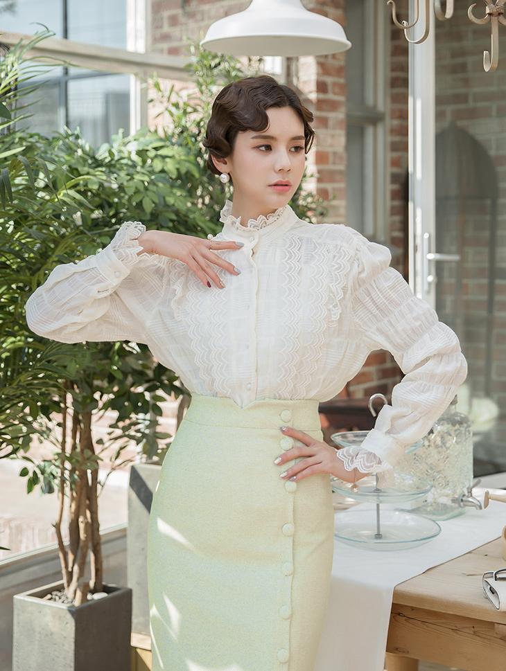 B2380 Lumenings折叠线女士衬衫